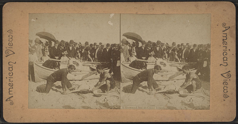 File:A drowned boy at Coney Island, from Robert N. Dennis collection of stereoscopic views 2.jpg