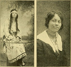 Pamunkey - Image of Pocahontas' sister (published in A history of Virginia for boys and girls (1920) by John Walter Wayland