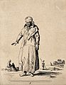 A man in ragged clothing. Etching by Jean Duplessi-Bertaux. Wellcome V0020416EL.jpg