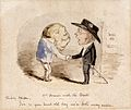 A potato shaking hands with Edward Jenner, claiming him as a Wellcome L0026161.jpg