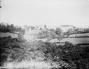A view of Narberth from the gas works