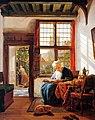 Abraham van Strij (1753 - 1826) - Lezende vrouw aan het venster - Woman reading at the window.jpg