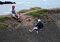 Abseilers at Hartland Quay - geograph.org.uk - 375263.jpg