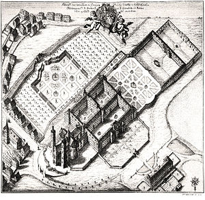 Ottobeuren Abbey - Bird's eye view of the abbey in 1766