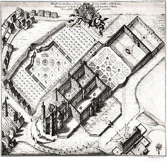Ottobeuren Abbey - Bird's eye view of the abbey in 1766