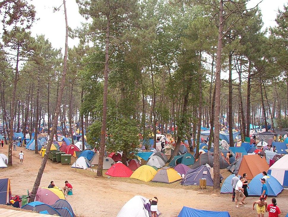 Acampada en el festival de ortigueira