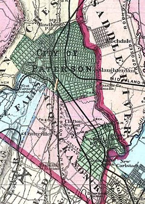 Acquackanonk Township, New Jersey - Image: Acquackanonk Township New Jersey 1872
