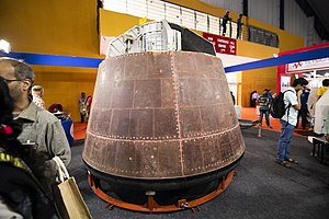 Actual crew module used during the Pad Abort Test (PAT) of Crew Escape System (CES).jpg