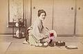 Adolfo Farsari (attributed) - A Woman Resting in Chanoma, A Living Room.jpg