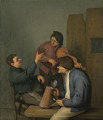 Three Peasants in an Interior