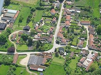 Nunnington - Nunnington from the air in 2005