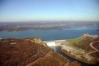 Table Rock Lake reservoir on Missouri-Arkansas border