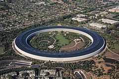 Apple Park v Cupertinu v Kalifornii