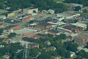 Herington, Kansas - Aerial view of Herington (2013)