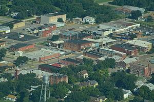 Herington, Kansas - Aerial view of Herington (2013)