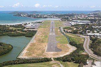 International airport - Airports have to be designed to fit into the landscape (Nouméa Magenta Airport)