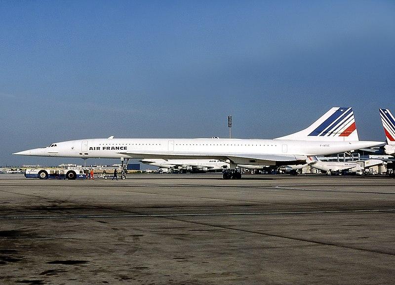 Este es el Concorde del accidente, en una imagen tomada en 1985, quince años antes del accidente.