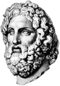 Majestic Zeus-like facial features of Asclepius head (Melos)