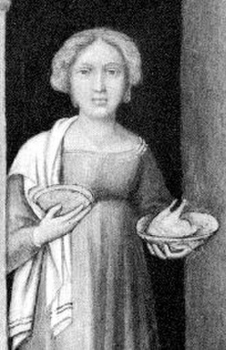 Agnese del Maino - Painting of Agnese del Maino by an unknown artist