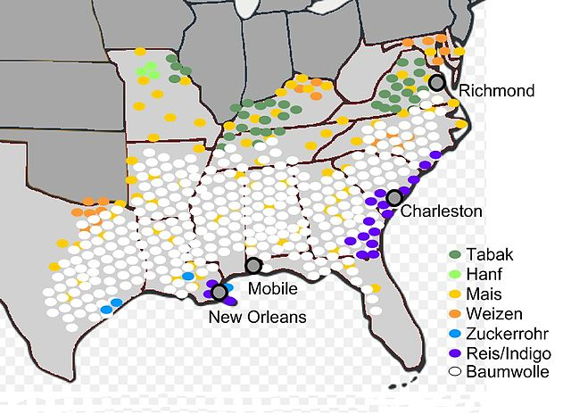 FileAgriculture US South Jpg Wikimedia Commons - Map of the us south