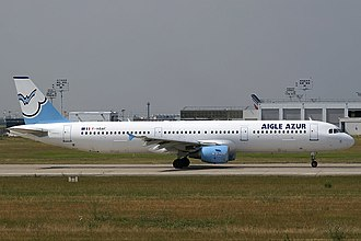 Aigle Azur - A former Aigle Azur Airbus A321-200 wearing the old livery