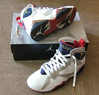 0ad5e9292272 Air Jordan VII sneakers specially released for 1992 Barcelona Olympics.