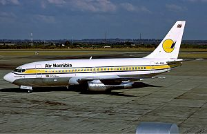 Robert Gabriel Mugabe International Airport - Air Namibia Boeing 737-200 at Harare International Airport November 1992