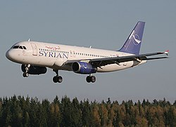 Airbus A320-232, Syrian Air AN0961285.jpg