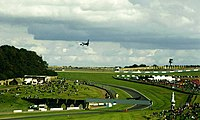 Airliner over Donington Circuit - geograph.org.uk - 1222575.jpg