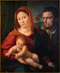 Virgin and Child with a Saint