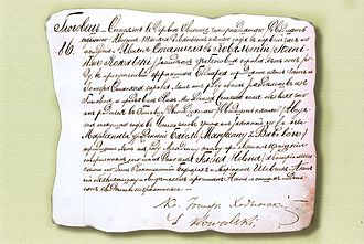 Faustina Kowalska - The registered birth certificate of Helena Kowalska