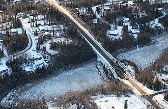 2018 Anchorage earthquake - Damage to Vine Road in Wasilla