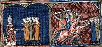 English: Pope Innocentius III excommunicating ...