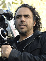 A photo of Alejandro González Iñárritu filming in Barcelona, Spain in 2008.