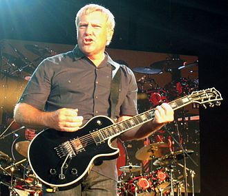 Floyd Rose - Alex Lifeson of Rush playing a Gibson Les Paul with a Floyd Rose Locking Tremolo