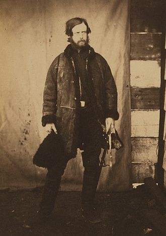 Alexander Leslie-Melville, Lord Balgonie - Lord Balgonie in the Crimea, circa 1855