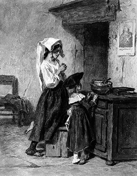 File:Alexandre-Marie Guillemin - Italian Peasant Girls at Prayer - Walters 371292.jpg