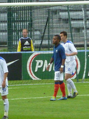 Alexandre Lacazette - Lacazette playing for the Les Bleuets in a game against Kazakhstan in Clermont-Ferrand, October 2011.