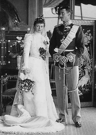 Alexandrine of Mecklenburg-Schwerin - Queen Alexandrine on her wedding day in the Villa Weden, Cannes