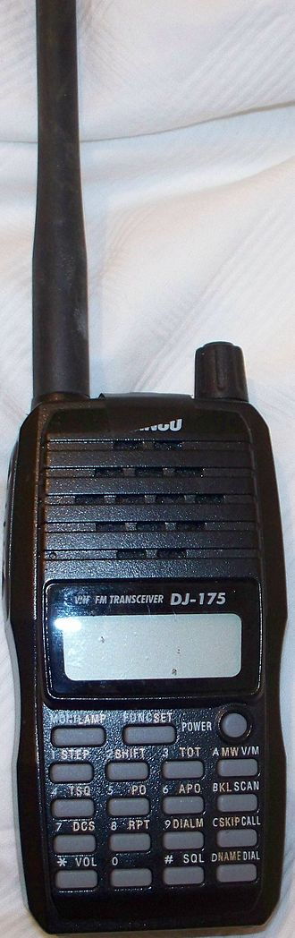 Alinco - An Alinco 2-meter, amateur radio handheld transceiver.