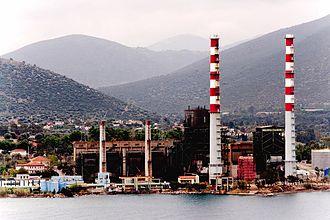 Aliveri - Power plant of Aliveri Evias