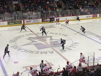 Allen, Texas - An Allen Americans hockey game at Allen Event Center.