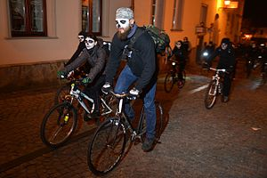 Alleycat race - Race in Mexican All Saints Day style, Poland, 2014