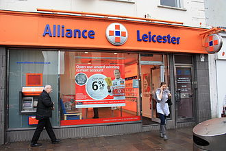 Alliance & Leicester - Image: Alliance and Leicester, Omagh, January 2010