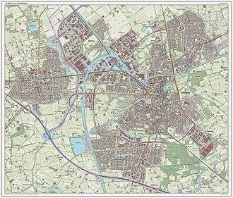 Almelo - Topographic map of Almelo, Sept. 2014