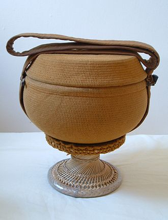 Almsbowl as used by bhikkhus for going on almsround. Almsbowl2.jpg