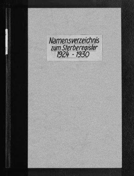 File:Alphabetisches Namensverzeichnis zum Sterberegister des Standesamtes Minden, 1924 bis 1930.djvu