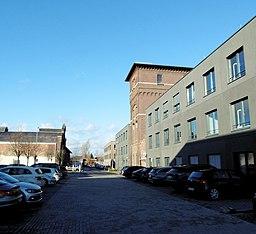 Am Kraftversorgungsturm in Aachen