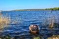 Am Ufer von Wannsee und Boote.jpg
