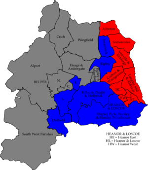 Amber Valley Borough Council elections - Image: Amber Valley 2006 election map